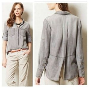 🌟 Cloth & Stone Chambray Shirt Top